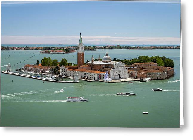 Blue Green Water Pyrography Greeting Cards - San Giorgio Maggiore Greeting Card by Vyacheslav Isaev