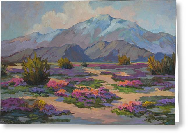 Verbena Greeting Cards - San Jacinto and Verbena Greeting Card by Diane McClary
