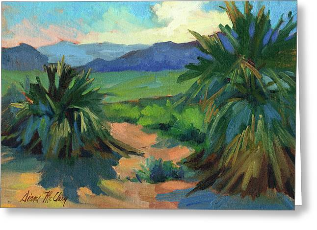 Visitors Paintings Greeting Cards - San Jacinto Visitors Center Greeting Card by Diane McClary
