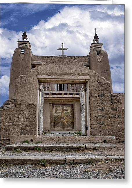 Taos Greeting Cards - San Jose de Gracia Church Greeting Card by Nikolyn McDonald