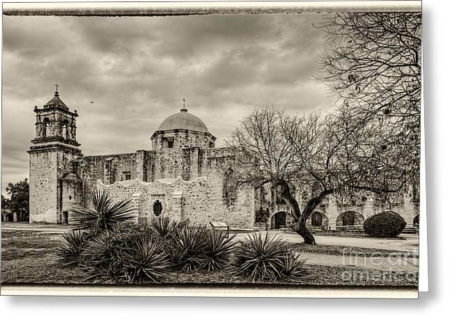 San Jose Historical Mission In San Antonio Texas Greeting Card by Silvio Ligutti