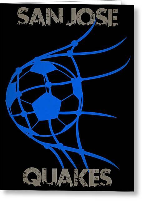 Goal Kick Greeting Cards - San Jose Quakes Goal Greeting Card by Joe Hamilton