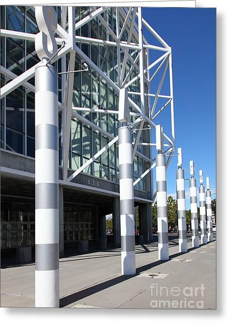 Sap Greeting Cards - San Jose Shark Tank SAP Arena San Jose California 5D25247 Greeting Card by Wingsdomain Art and Photography