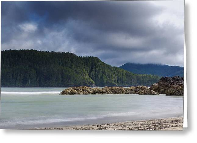 Cole Greeting Cards - San Josef Bay Second Beach Greeting Card by Carrie Cole