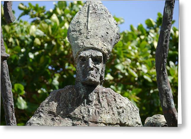 Rogativa Greeting Cards - San Juan - La Rogativa Bishop II Greeting Card by Richard Reeve