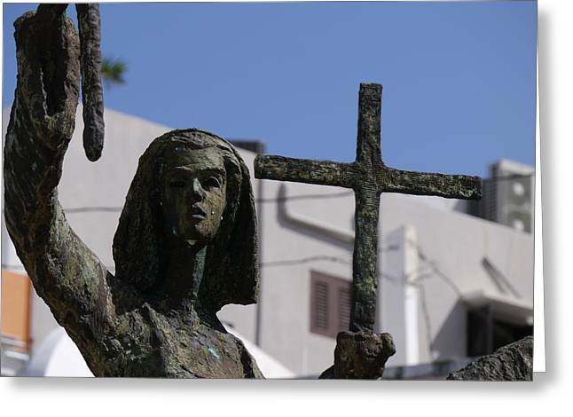 Rogativa Greeting Cards - San Juan - La Rogativa Townswoman Greeting Card by Richard Reeve