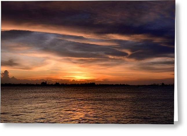 Paseo La Princesa De San Juan Greeting Cards - San Juan Bay Greeting Card by Ricardo J Ruiz de Porras