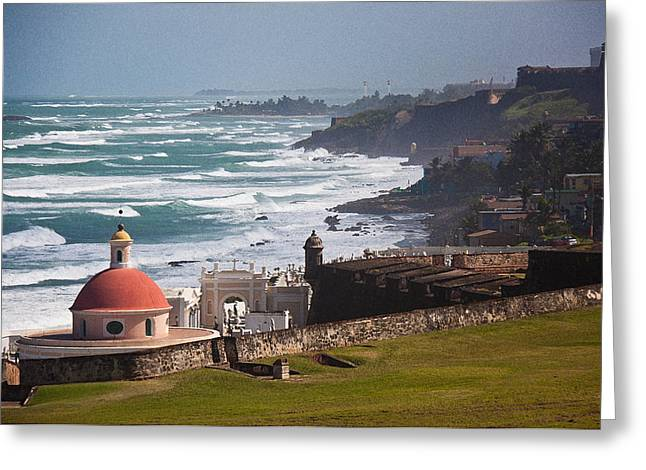 Surf City Greeting Cards - San Juan breakers Greeting Card by Frank Tozier