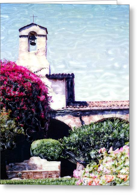 California Tourist Spots Greeting Cards - San Juan Capistrano Court Yard Greeting Card by Glenn McNary