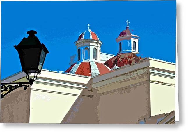 Paseo La Princesa De San Juan Greeting Cards - San Juan Cathedral Domes Greeting Card by Ricardo J Ruiz de Porras