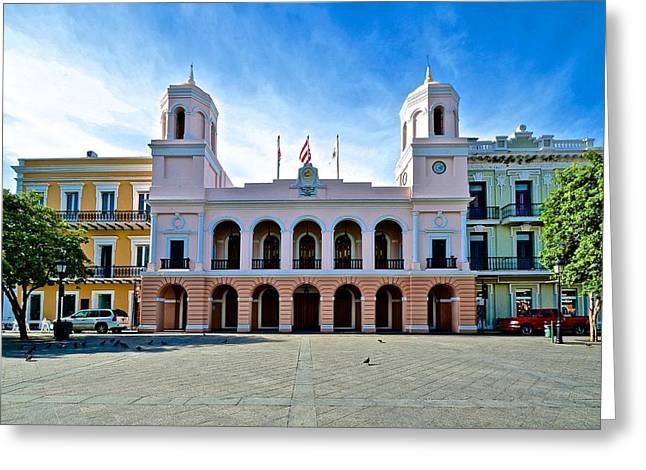 Paseo La Princesa De San Juan Greeting Cards - San Juan City Hall Greeting Card by Ricardo J Ruiz de Porras