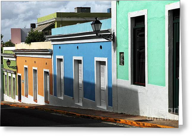 Old School House Greeting Cards - San Juan Colors Greeting Card by John Rizzuto