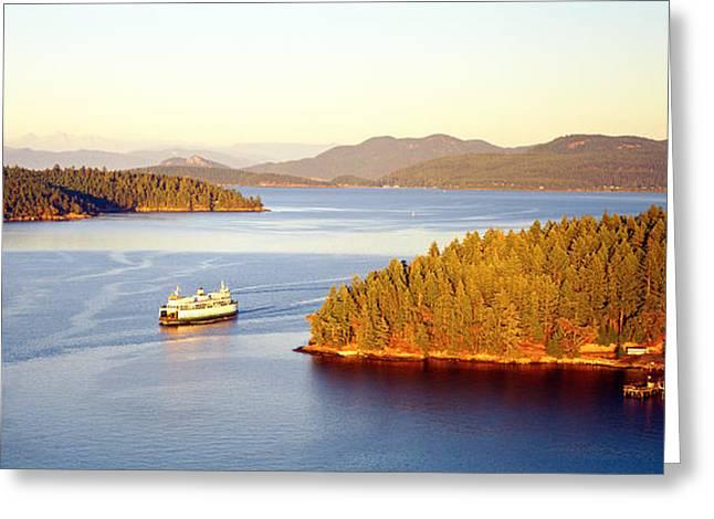 Baker Island Greeting Cards - San Juan Islands Washington Usa Greeting Card by Panoramic Images