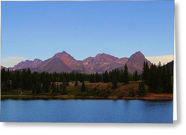 San Juan Mountain Range Greeting Card by Dan Sproul