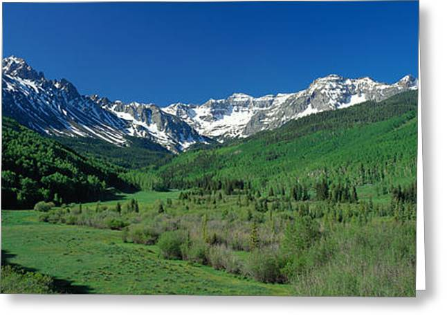 Snow Capped Greeting Cards - San Juan Mountains Co Usa Greeting Card by Panoramic Images