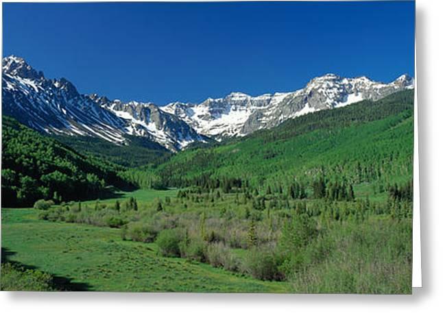 Panorama Mountain Images Greeting Cards - San Juan Mountains Co Usa Greeting Card by Panoramic Images