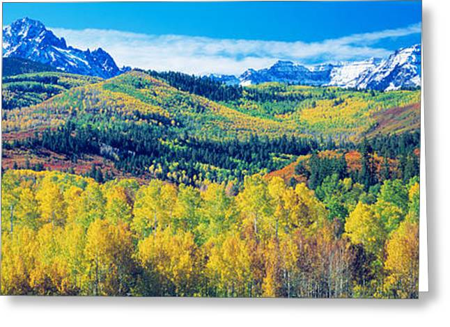 Colorful Photography Greeting Cards - San Juan Mountains, Colorado, Usa Greeting Card by Panoramic Images