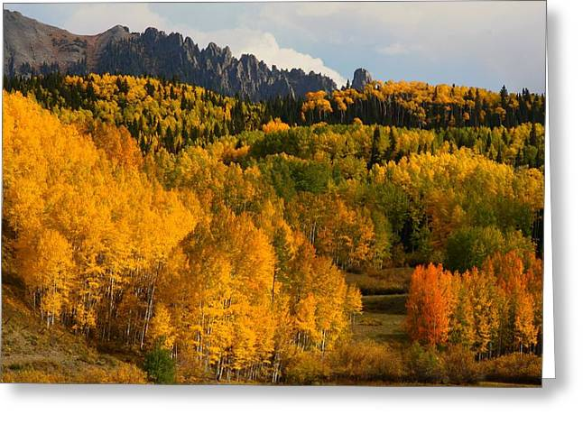 San Juan Mountains in autumn Greeting Card by Jetson Nguyen