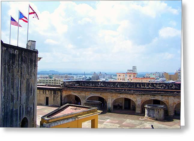 San Juan Puerto Rico Greeting Card by Marilyn Holkham