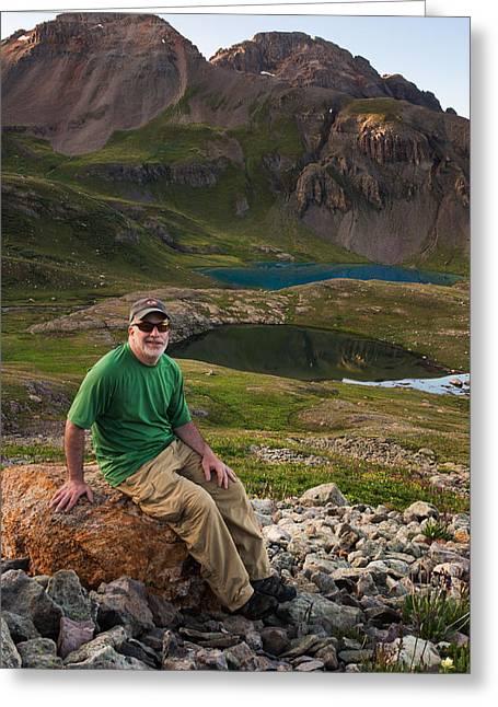 Copyright 2013 By Mike Berenson Greeting Cards - San Juan Selfie In Ice Lake Basin Greeting Card by Mike Berenson