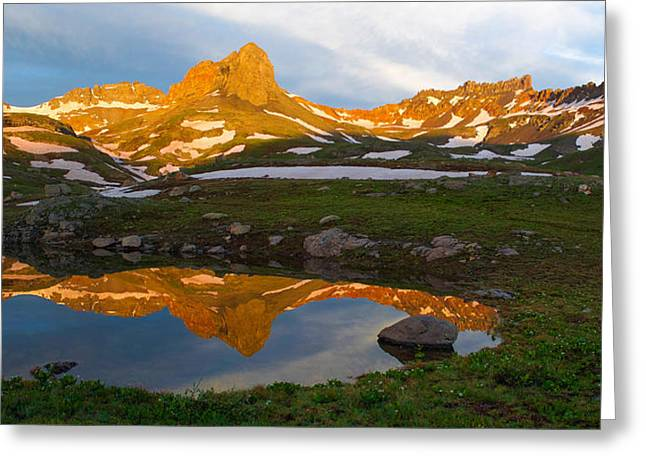 13er Greeting Cards - San Juan Sunrise - Colorado  Greeting Card by Aaron Spong