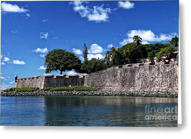 San Juan Wall Greeting Card by John Rizzuto