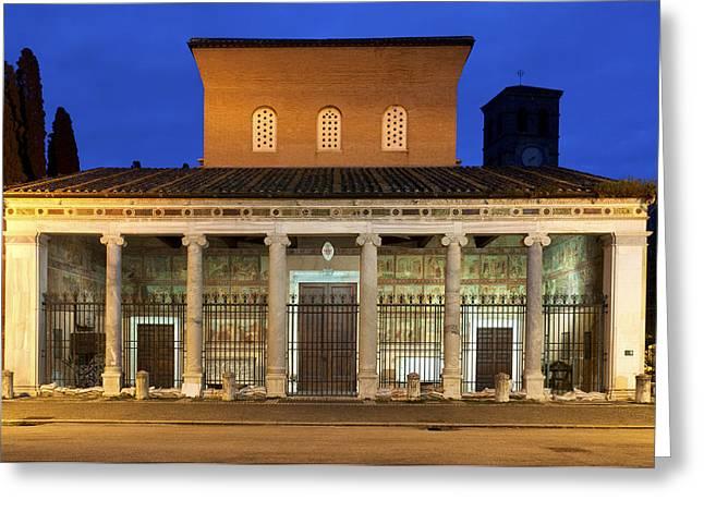 Papal Greeting Cards - San Lorenzo fuori le Mura Greeting Card by Fabrizio Troiani