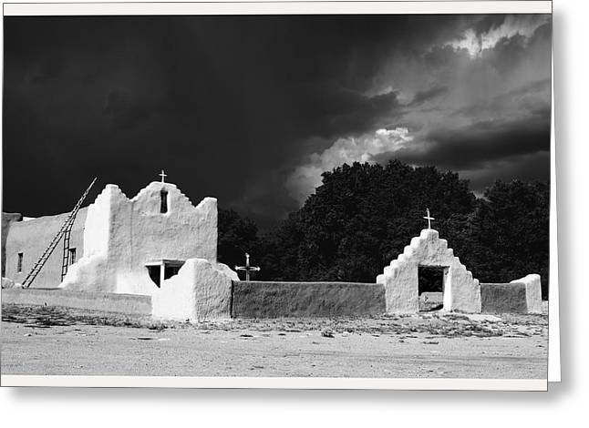 Prostration Greeting Cards - San Lorenzo Picuris Pueblo New Mexico Greeting Card by Mark Goebel