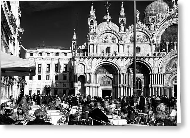 Basilica San Marco Greeting Cards - San Marco Day Greeting Card by John Rizzuto