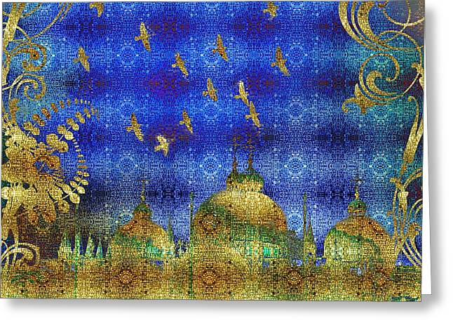Bling Greeting Cards - San Marco Greeting Card by Mo T