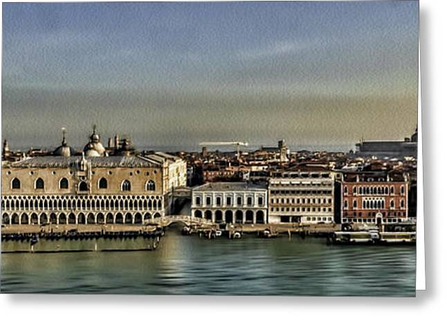 Sea View Greeting Cards - San Marcos Square and Grand Canal Greeting Card by Maria Coulson