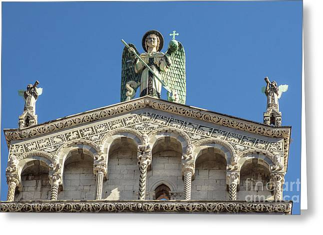 Michele Greeting Cards - San Michele in Foros Facade Greeting Card by Prints of Italy