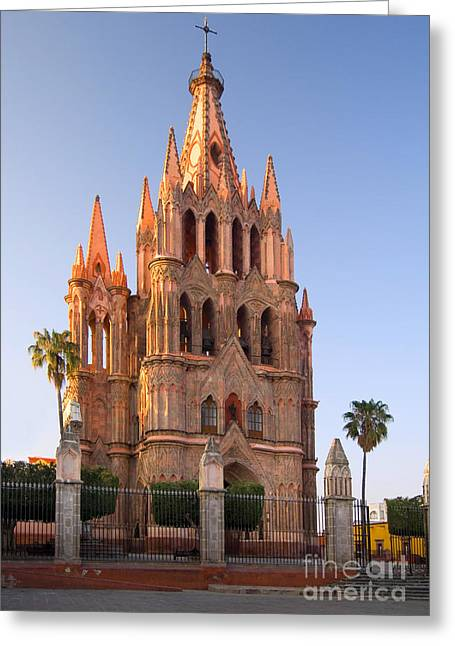 San Rafael Church Greeting Cards - San Miguel De Allende, Mexico Greeting Card by John Shaw