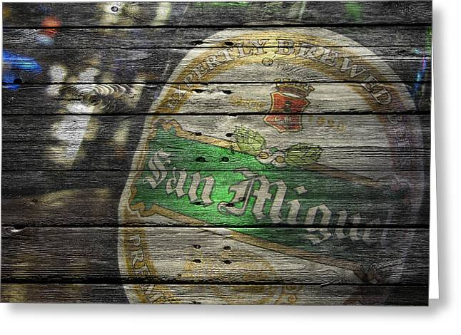 Bar San Miguel Greeting Cards - San Miguel Greeting Card by Joe Hamilton