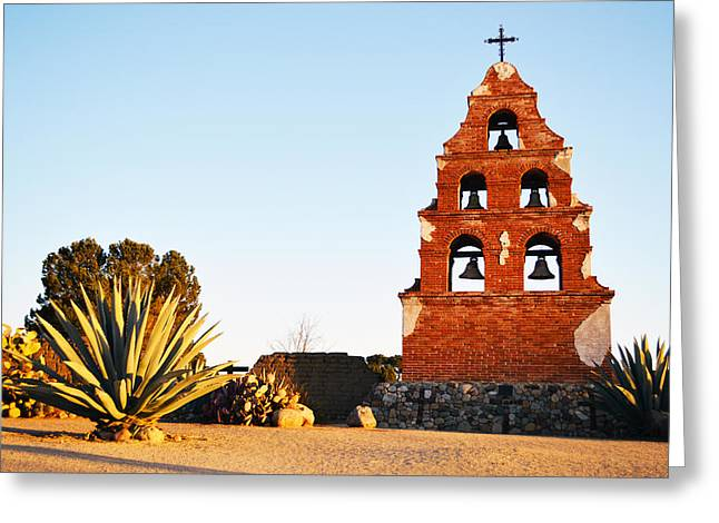 Miguel Art Greeting Cards - San Miguel Mission Bells Greeting Card by Barbara Snyder