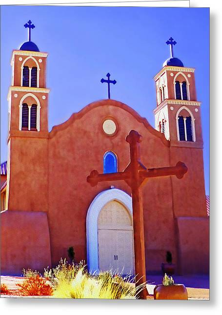 Still Standing Greeting Cards - San Miguel Mission Greeting Card by Terril Heilman