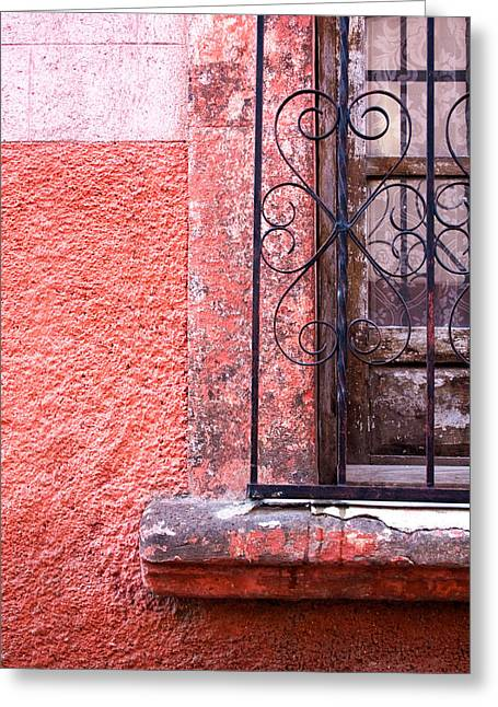 Bar San Miguel Greeting Cards - San Miguel Window2 Greeting Card by CJ Middendorf