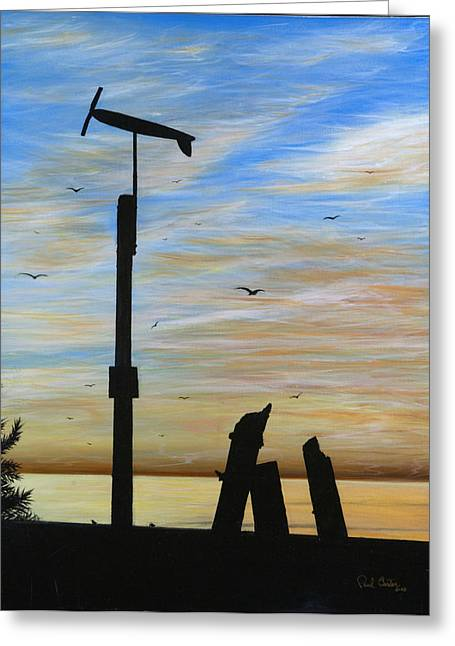 Wind Surfing Art Paintings Greeting Cards - San Onofre Sunrise Greeting Card by Paul Carter
