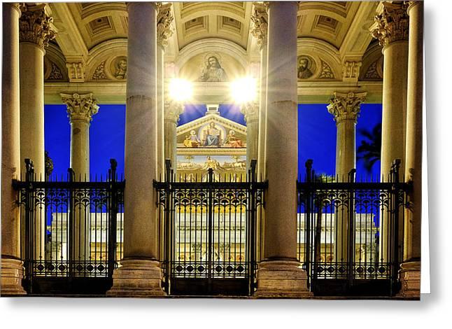 Basilica Greeting Cards - San Paolo fuori le Mura Greeting Card by Fabrizio Troiani