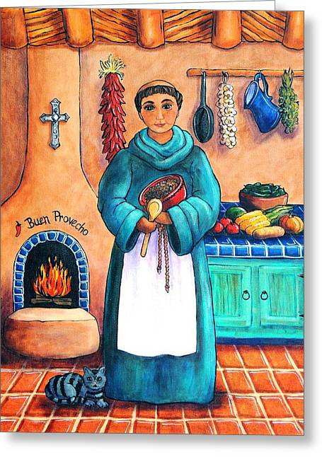 Saint Of Kitchen Greeting Cards - San Pascual Greeting Card by Candy Mayer