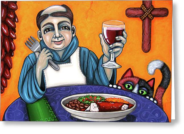 Hispanic Greeting Cards - San Pascual Cheers Greeting Card by Victoria De Almeida