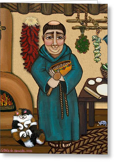 New Mexican Greeting Cards - San Pascual Greeting Card by Victoria De Almeida