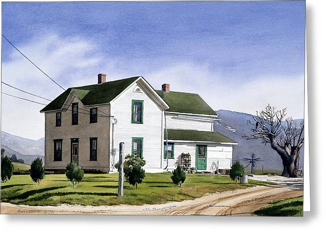 San Diego County Greeting Cards - San Pasquale House Greeting Card by Mary Helmreich