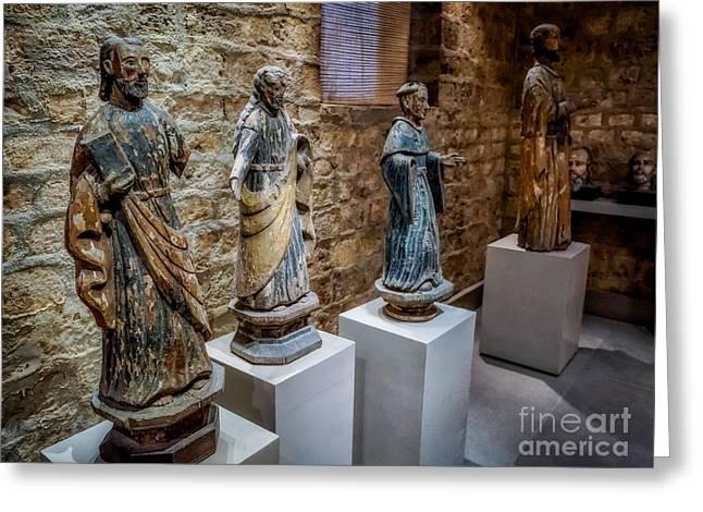Catholic Digital Art Greeting Cards - San Pedro Statue Greeting Card by Adrian Evans