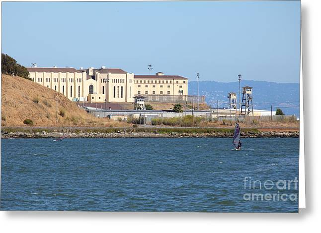 Corte Madera Greeting Cards - San Quentin Prison in Marin County California 5D29489 Greeting Card by Wingsdomain Art and Photography