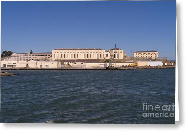 San Quentin Prison In Marin County California Dsc1673 Greeting Card by Wingsdomain Art and Photography