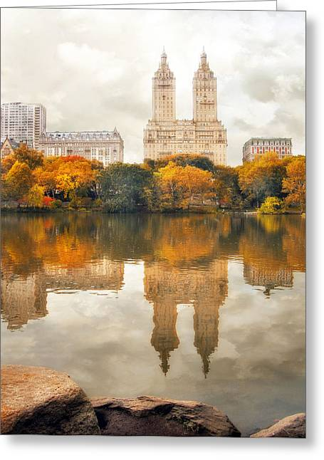 San Remo Reflections Greeting Card by Jessica Jenney
