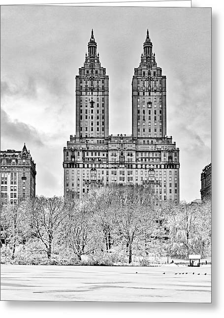 Central Park West Greeting Cards - San Remo Towers NYC Greeting Card by Susan Candelario