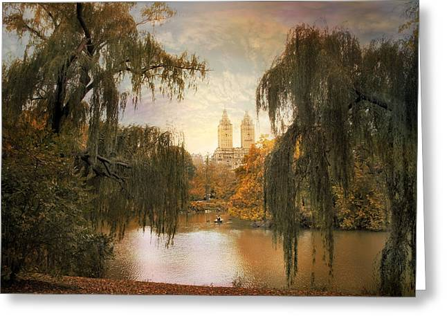 Willow Lake Digital Art Greeting Cards - San Remo Views Greeting Card by Jessica Jenney