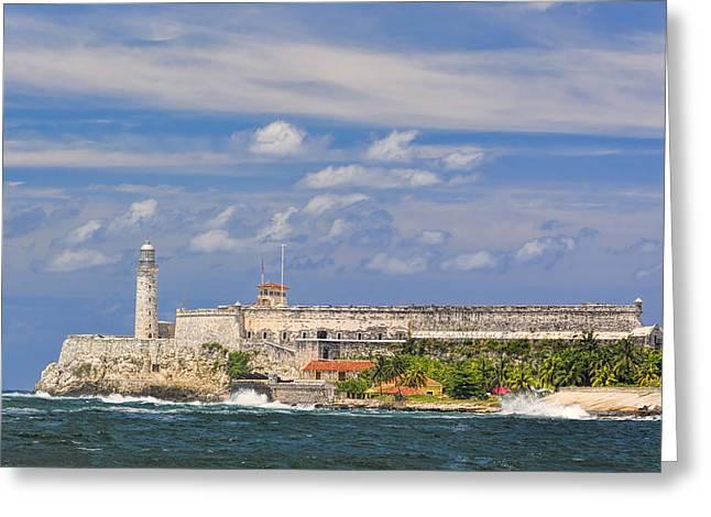 Civil War Site Greeting Cards - San Salvador de la Punta Fortress Greeting Card by Yves Gagnon